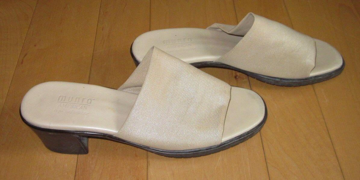 Munro Womens Tan Stretch Sandals Slides 10 M Sharp Must C
