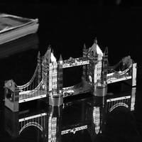 3D Puzzle Nano Metallic Jigsaw Kids London Tower Bridge Models Educational Toys