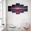 thumbnail 2 - Yatsen Bridge 5 Piece Wall Art for Living Room Red Aurora Appears in The Ocean S