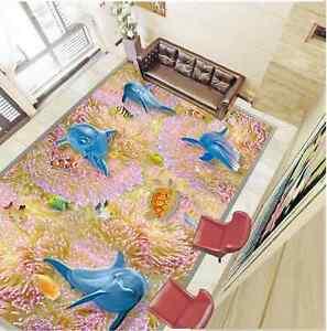 3d Joli Océan Fond D'écran étage Peint En Autocollant Murale Plafond Chambre Art