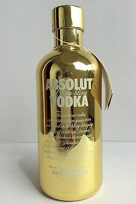 ABSOLUT Vodka Bling Bling GOLD Case 750ml LIMITED EDITION Empty Storage Bar Gift