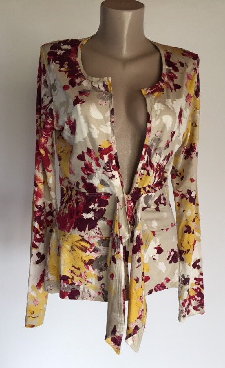 CLAUDIA STRATER FLORAL BLOUSE 38 M