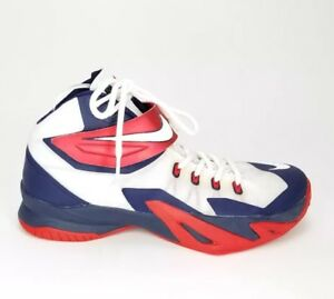 finest selection 7f9a0 449e7 Image is loading 6719-Nike-Zoom-LeBron-Soldier-VIII-USA-Red-
