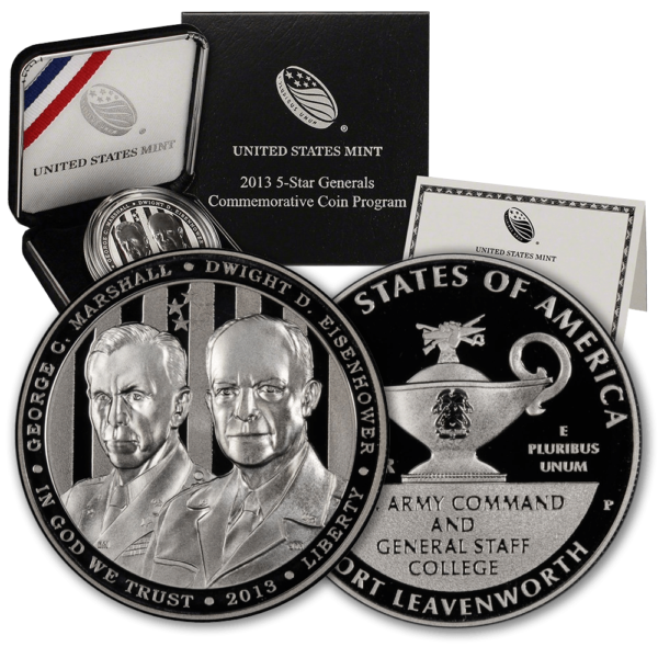 2013 5-Star General Commemorative Silver Dollar Proof