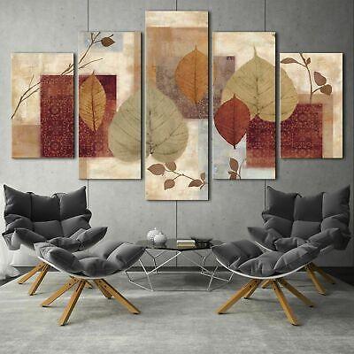 Home Decor Fire Phoenix Bird Abstract Canvas Print Painting Wall Art Poster 5PCS
