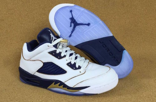 Nike Air Jordan Retro V 5 Navy Low DUNK FROM ABOVE Gold Navy 5 819171-135 Lot 4y-7y c50dee