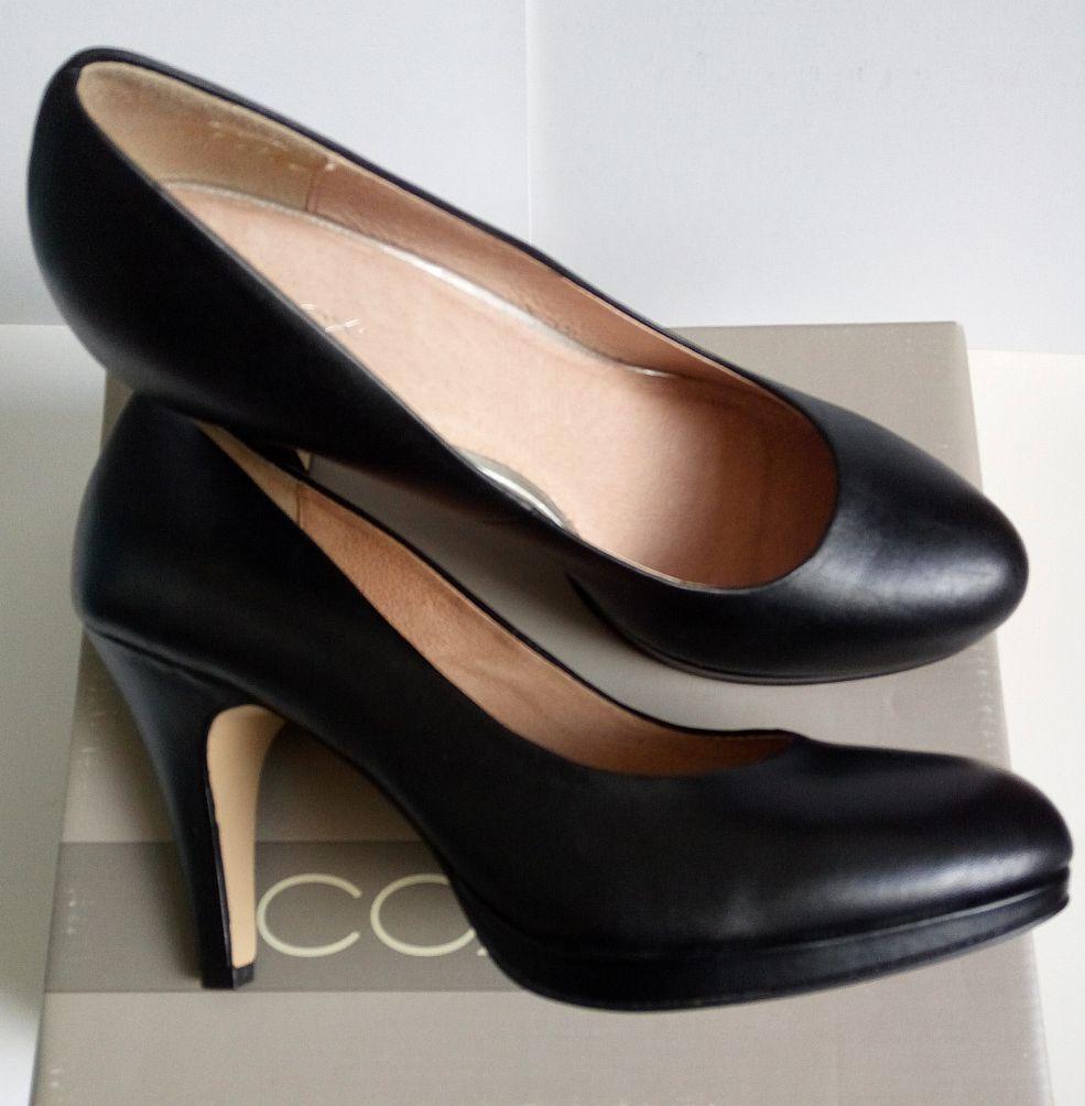 NEU Cox Pumps Plateau Style Style Style Echt Leder Gr.40 schwarz Damen Damenschuhe NP 1ceb0e
