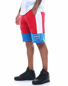 Fila-Mens-Reiley-Shorts-Red-Wht-Royal-Blue