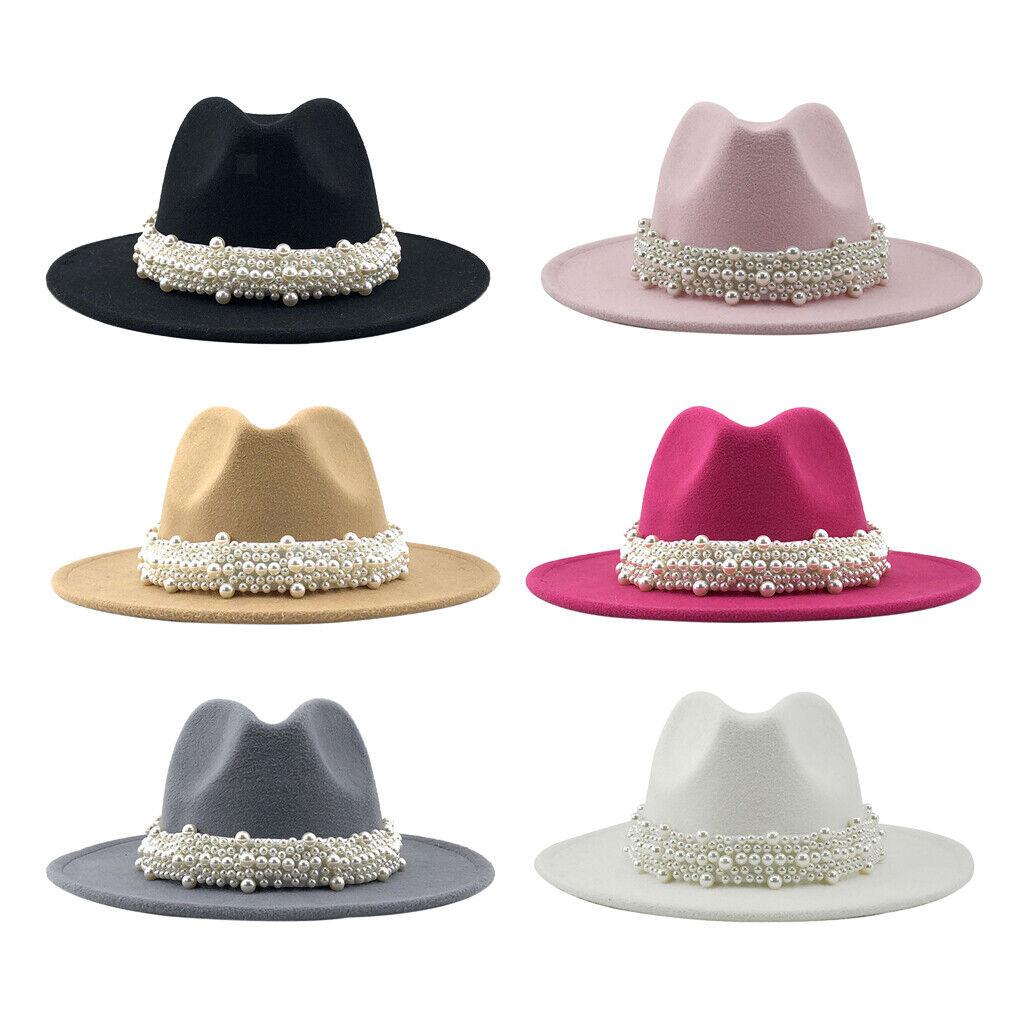 Fedora Hut Breite Krempe Panama Flache Top Kappe Bowler Hut für