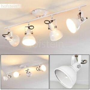 weißer Flur Küchen Strahler Wohn Schlaf Zimmer Lampen Decken Leuchten 4-flammig