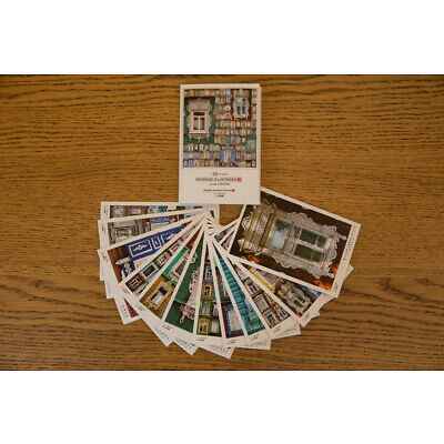 "Postcards with Russian cities ""Window Surrounds"" Set of 12"