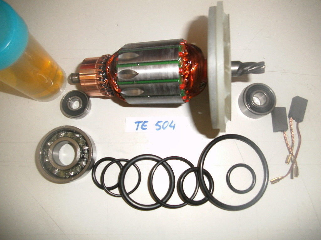 Anker, Rotor für Hilti TE 504 incl. komplettem Reparatursatz