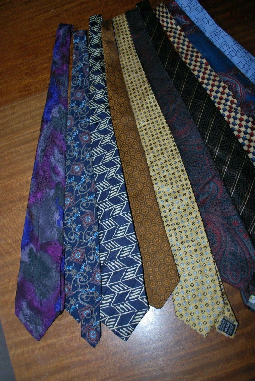 10 x various coloured patterned Tie's job lot bulk buy 11