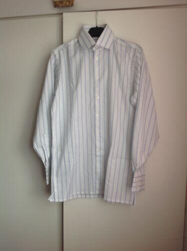 15 white Richard Blue Striped Shirt James Size Ep0SqY