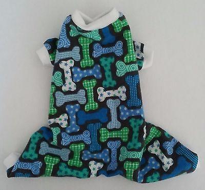Blue Green Tan Plaid Flannel Pajamas PJ/'s Dog Puppy Pet Clothes XXXS Large