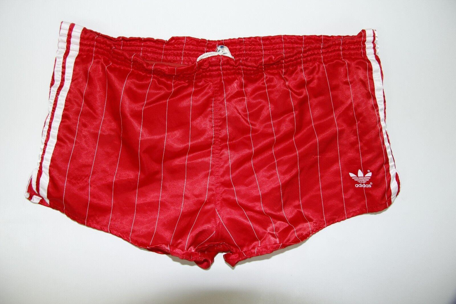 Vintage Retro Adidas Men's Made in W.Germany Classic Glanz Nylon Shiny Shorts 6