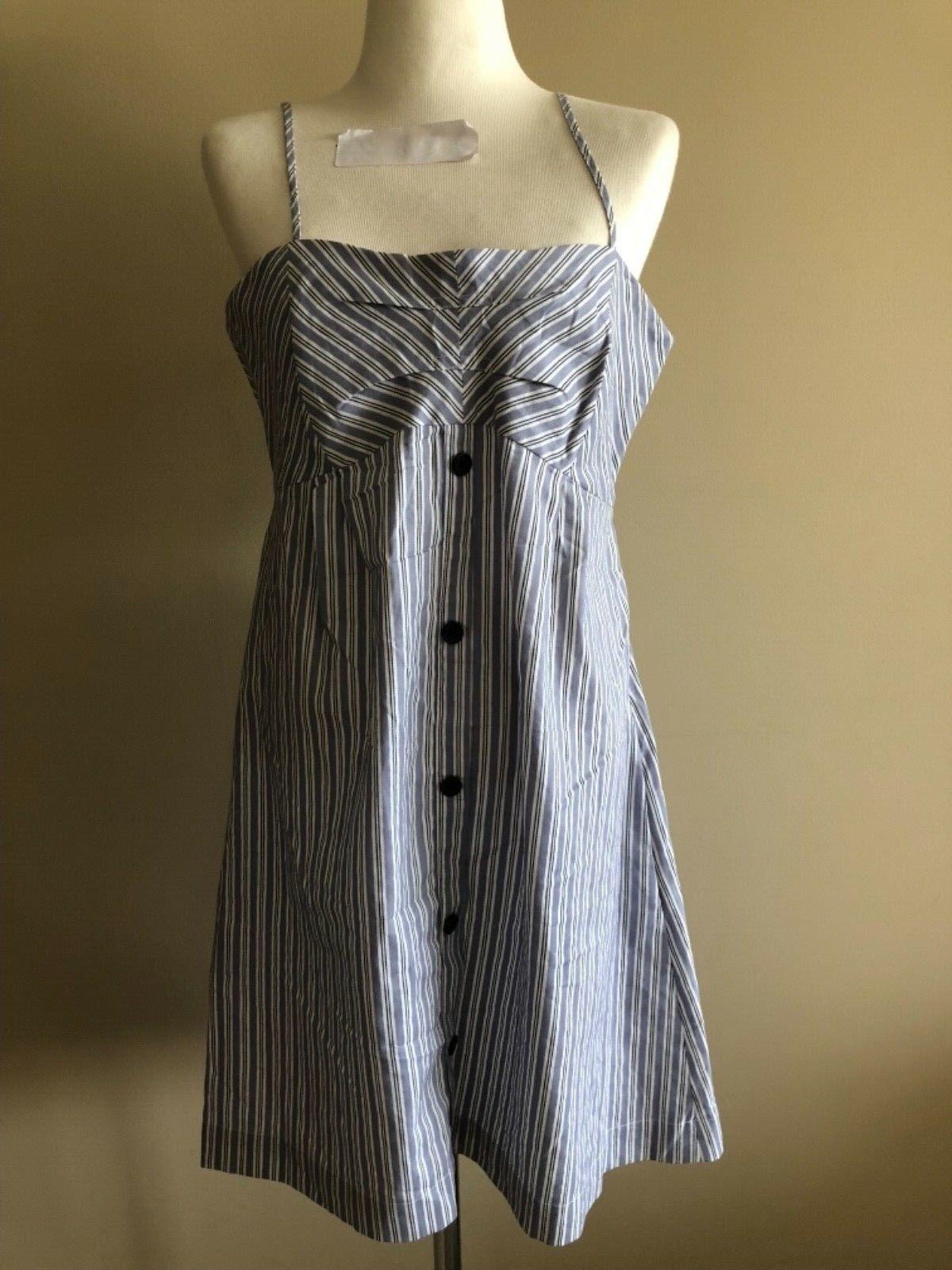 Striped Luigi Bertolli short dress in size 40, Aus 10, NWT
