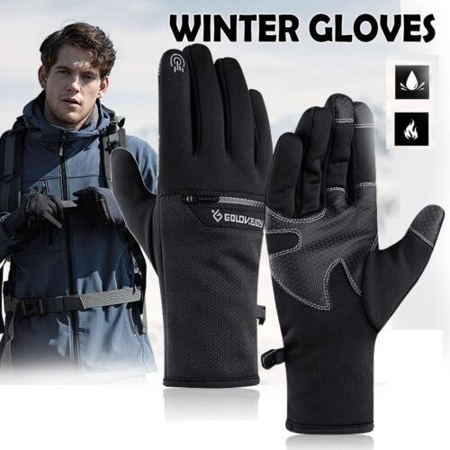 Ski Bike Gloves Winter Thermal Warm Touch Screen Full Finger Windproof
