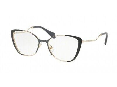 Bello Montatura Occhiali Da Vista Miu Miu Autentici Mu 51qv Nero Vyd1o1 Pregevole Fattura