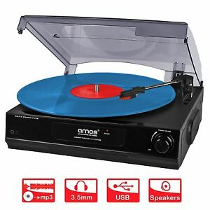 AMOS-USB-Turntable-3-Speed-Record-Player-Vinyl-to-MP3-Converter-Stereo-Speakers