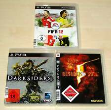 3 PLAYSTATION 3 PS3 SPIELE SAMMLUNG FIFA 12 DARKSIDERS RESIDENT EVIL 5 SHOOTER