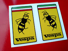 VESPA WASP Motorcycle Lambretta Scooter fans Helmet Stickers Decals 2 off 72mm