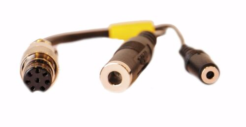 Yaesu 8-pin round Heil Sound AD-1-Y8 Headset adapter cable
