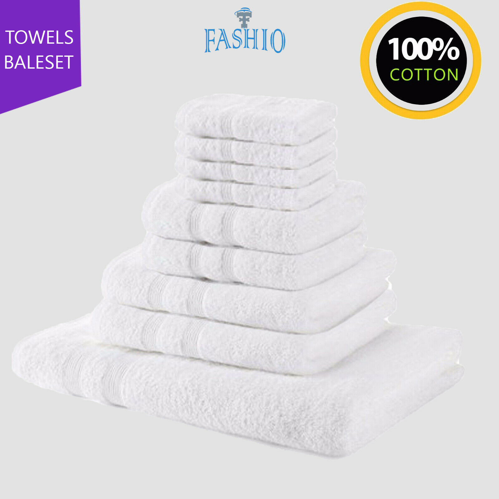 Luxury Hotel Spa Face Hand Bath Towel Bath Sheet Bale Set 100/% Cotton