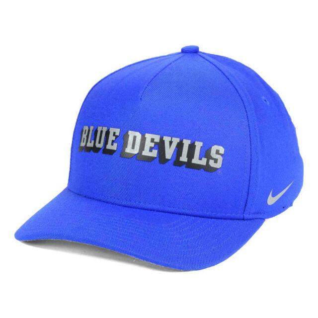 Duke Blue Devils Hat Cap Ncaa Nike Dri Fit Swoosh Spellout Logo Flex