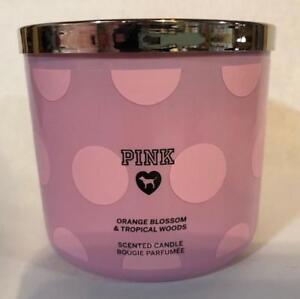 57e1582d6532c Details about Victoria's Secret PINK Orange Blossom & Tropical Woods 3 Wick  Candle New.