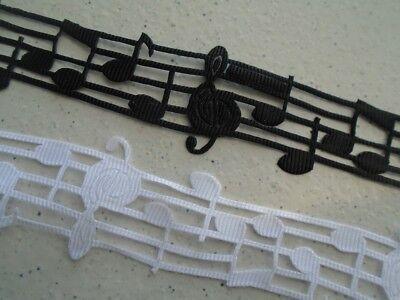 """Doré scrapbooking 30mm Ruban/"""" note de musique/"""" décoration noel mariage Argent"""