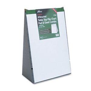 20 Sheets Ampad 24022 Table Top Flip Chart Plain 20x28 White ...
