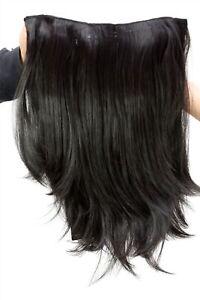 Clip-In-Postiche-Demi-Perruque-7-Attache-Extension-Noir-Lisse-45-cm-H9515-2