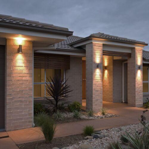 2 x Double Outdoor Security Porche mur extérieur Porte Patio Maison De Jardin TWIN LIGHT