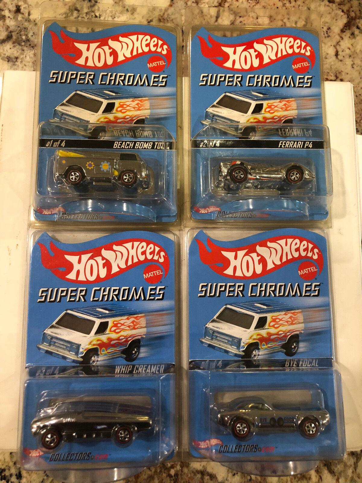 2004 Hot Wheels RLC   SUPER CHROMES (4) Car Set