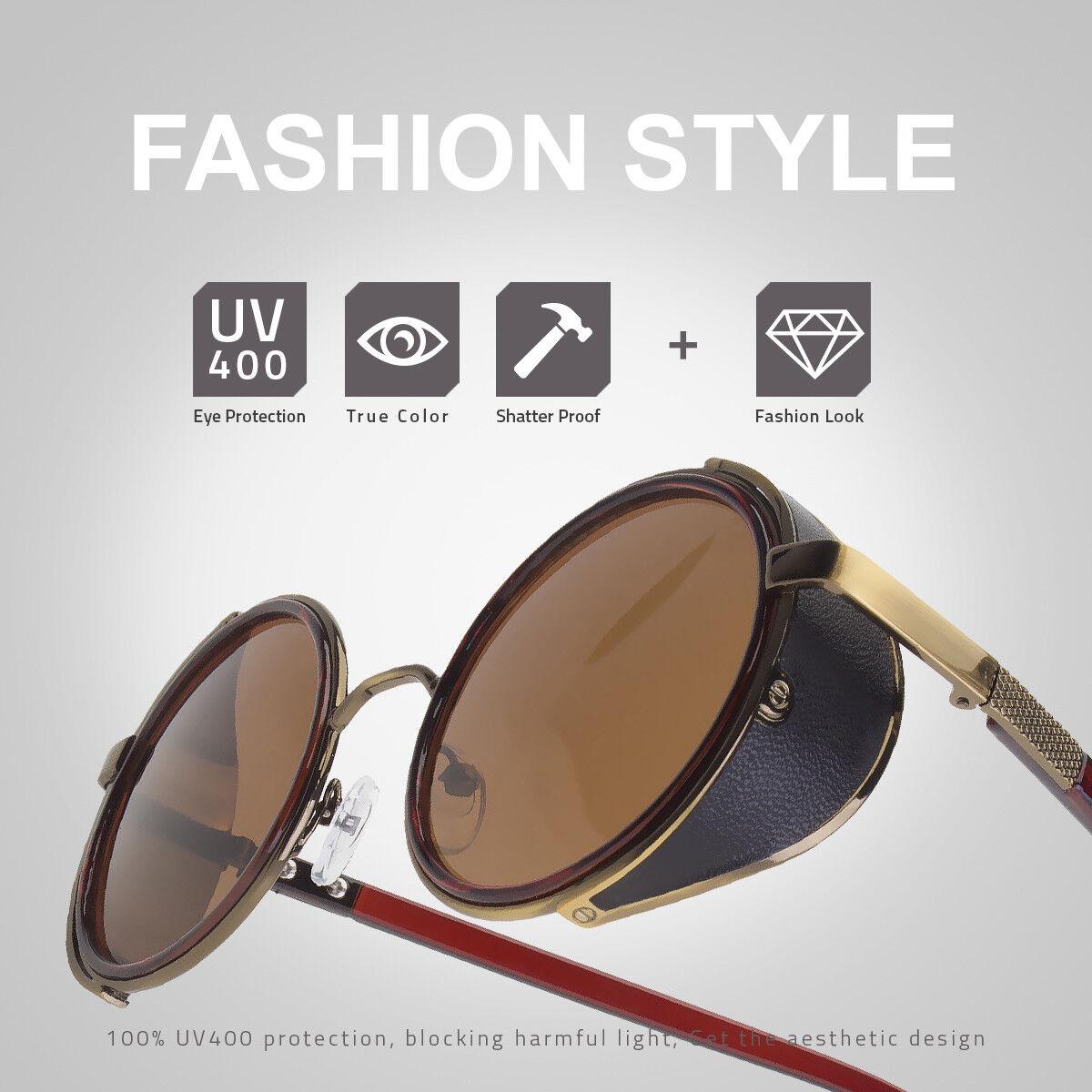 5eccb0ab4970 4 of 6 Unise Vintage Retro Mirror Round SUN Glasses Goggles Steampunk Punk  Sunglasses