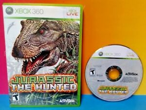 Jurassic-The-Hunted-Microsoft-Xbox-360-2009-Rare-Tested-Dinosaur-Hunter-Game