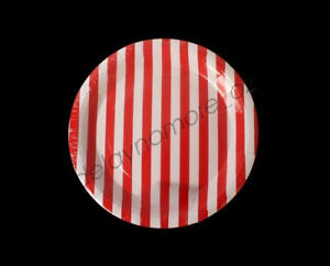 10x-Red-amp-White-Striped-Stripes-Circus-Party-Small-Dessert-Paper-Plates-Pirate
