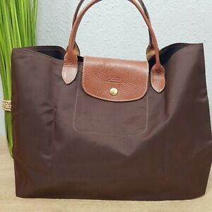 Longchamp-Le-Pliage-Cabas-Shopper-in-braun-choclate
