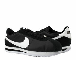 Nike Cortez Silver Shoes Basic Running Blackwhite Men's Nylon 3JulFcT1K
