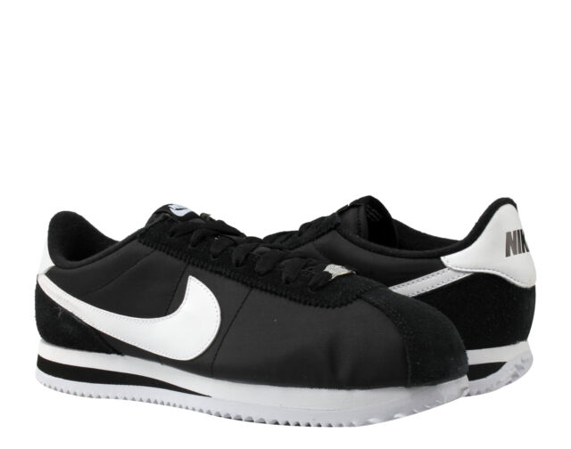 Nike Cortez Basic Nylon Black White-Silver Men s Running Shoes 819720-011 b3a55fd0e