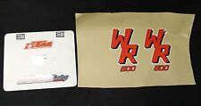 89 YAMAHA WR500 SHROUD DECALS STICKERS GRAPHICS PAIR DECAL STICKER WR 500 1989