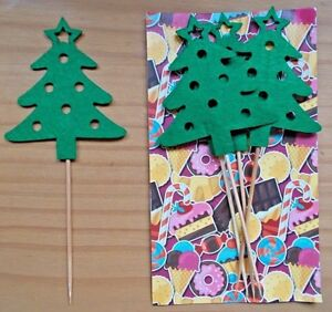 Details About Cupcake Toppers Fit Tree Christmas Tree Table Decoration Christmas