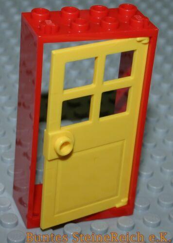 4 piezas rojo-puertas amarillas 60623 /& Marco 60599 2x4x6 /& nuevo! Tt14