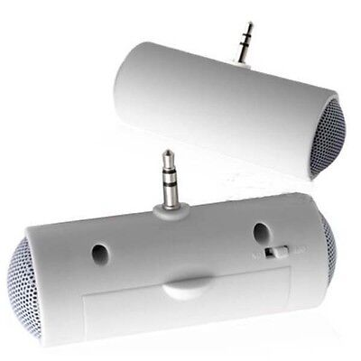 1pc White Color Mini Portable Stereo Speaker for iPod iPhone MP3 MP4