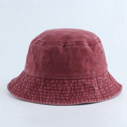 Der Hut Depot Denim Washed Cotton Bucket Hat Pure Bonnet Adult Praktisch DE