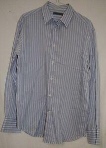 John-Varvatos-USA-Smart-Disenador-Calce-Ajustado-Camisa-informal-a-rayas-M