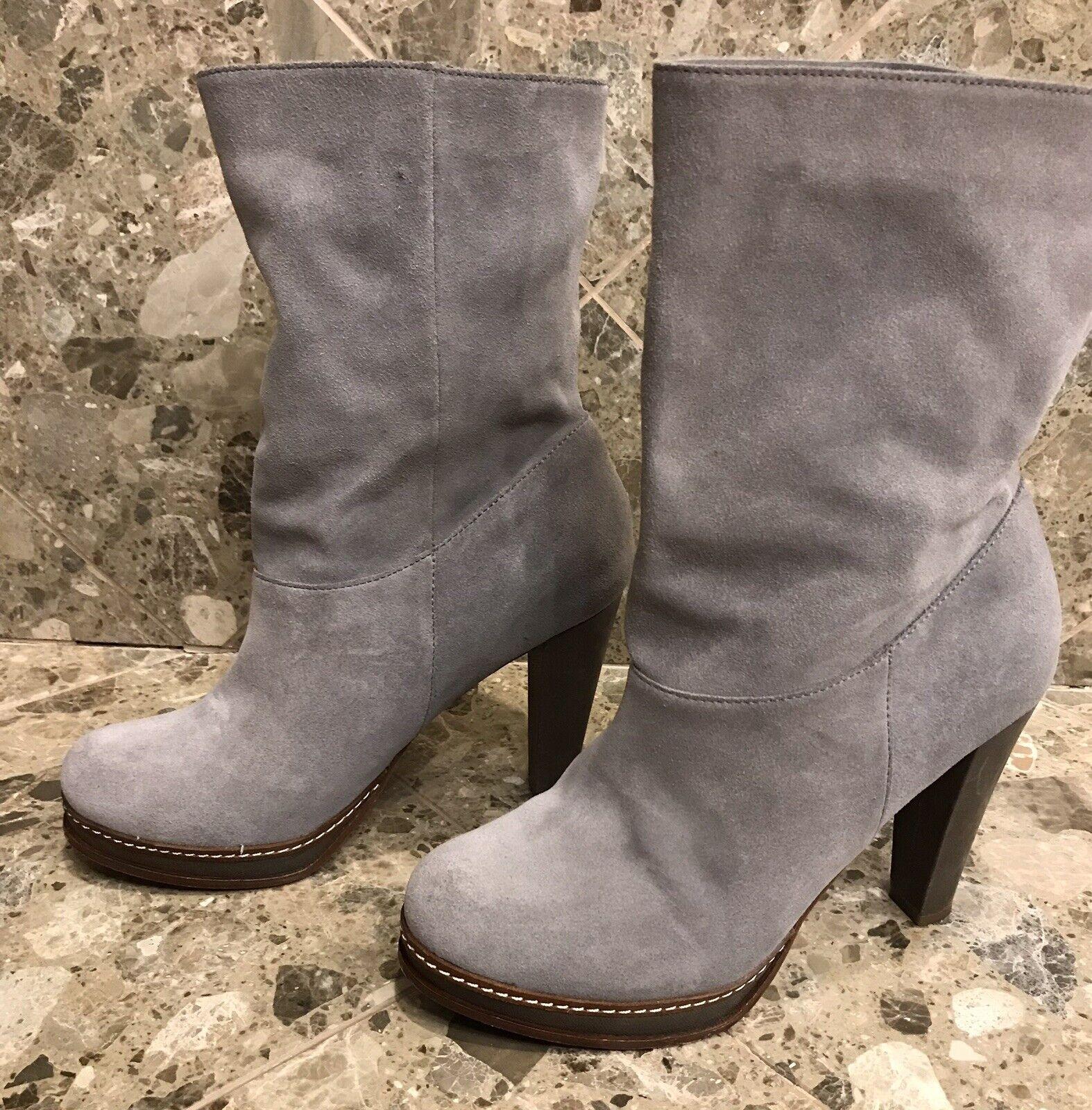 Cole Haan Para Mujer botas De Plataforma gris Gamuza Ironstone Slouch US 9.5B