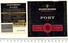 Port Wine Label - Fletchers Oporto Fine Ruby Port