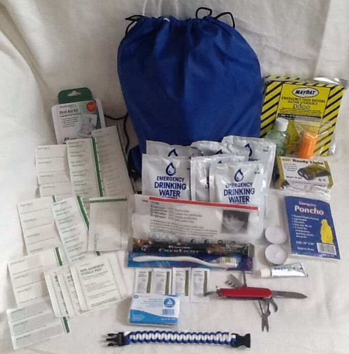 72 HOUR SURVIVAL DISASTER KIT EMERGENCY PREPAREDNESS  FOOD WATER Prepper Doomsday  all goods are specials